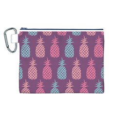 Pineapple Pattern Canvas Cosmetic Bag (L)