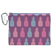 Pineapple Pattern Canvas Cosmetic Bag (XL)