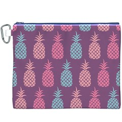 Pineapple Pattern Canvas Cosmetic Bag (XXXL)