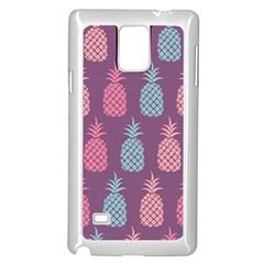 Pineapple Pattern Samsung Galaxy Note 4 Case (White)