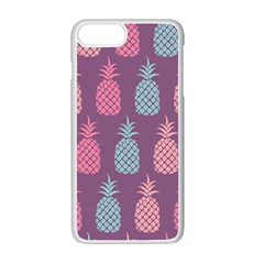 Pineapple Pattern Apple iPhone 7 Plus White Seamless Case
