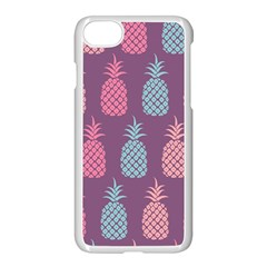 Pineapple Pattern Apple iPhone 7 Seamless Case (White)