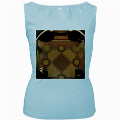 Mosaic The Elaborate Floor Pattern Of The Sydney Queen Victoria Building Women s Baby Blue Tank Top