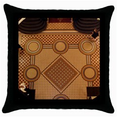 Mosaic The Elaborate Floor Pattern Of The Sydney Queen Victoria Building Throw Pillow Case (Black)