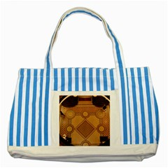 Mosaic The Elaborate Floor Pattern Of The Sydney Queen Victoria Building Striped Blue Tote Bag