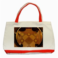 Mosaic The Elaborate Floor Pattern Of The Sydney Queen Victoria Building Classic Tote Bag (Red)