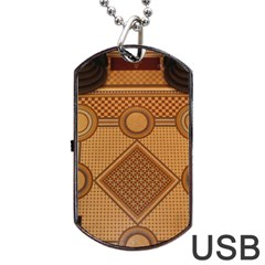 Mosaic The Elaborate Floor Pattern Of The Sydney Queen Victoria Building Dog Tag USB Flash (Two Sides)
