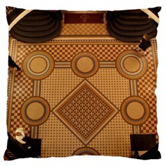 Mosaic The Elaborate Floor Pattern Of The Sydney Queen Victoria Building Large Flano Cushion Case (One Side)