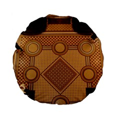 Mosaic The Elaborate Floor Pattern Of The Sydney Queen Victoria Building Standard 15  Premium Flano Round Cushions