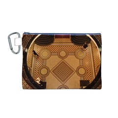 Mosaic The Elaborate Floor Pattern Of The Sydney Queen Victoria Building Canvas Cosmetic Bag (M)