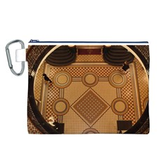 Mosaic The Elaborate Floor Pattern Of The Sydney Queen Victoria Building Canvas Cosmetic Bag (L)