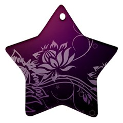 Purple Lotus Ornament (Star)