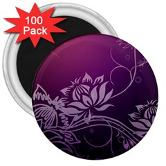 Purple Lotus 3  Magnets (100 pack)