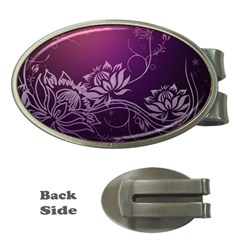 Purple Lotus Money Clips (Oval)