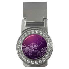 Purple Lotus Money Clips (CZ)