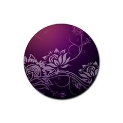 Purple Lotus Rubber Coaster (Round)