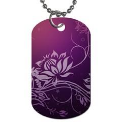 Purple Lotus Dog Tag (Two Sides)