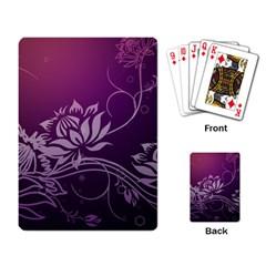 Purple Lotus Playing Card