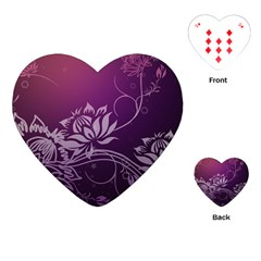 Purple Lotus Playing Cards (Heart)
