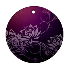 Purple Lotus Round Ornament (Two Sides)