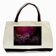 Purple Lotus Basic Tote Bag (Two Sides)