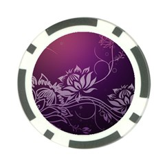 Purple Lotus Poker Chip Card Guards