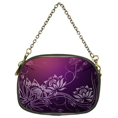 Purple Lotus Chain Purses (Two Sides)