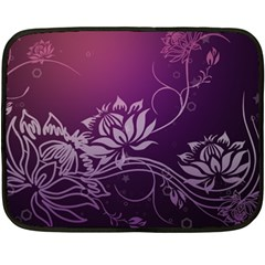 Purple Lotus Fleece Blanket (Mini)