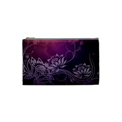 Purple Lotus Cosmetic Bag (Small)