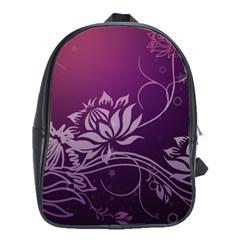 Purple Lotus School Bags(Large)