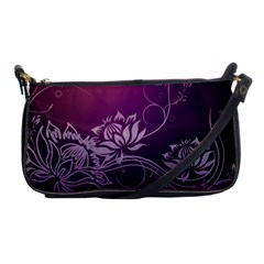 Purple Lotus Shoulder Clutch Bags