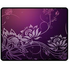 Purple Lotus Fleece Blanket (Medium)