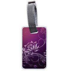 Purple Lotus Luggage Tags (Two Sides)