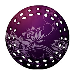 Purple Lotus Round Filigree Ornament (2Side)