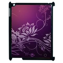 Purple Lotus Apple iPad 2 Case (Black)