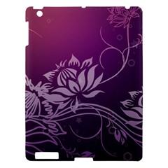 Purple Lotus Apple iPad 3/4 Hardshell Case