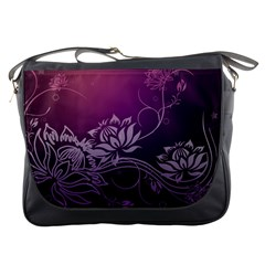 Purple Lotus Messenger Bags