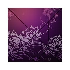 Purple Lotus Acrylic Tangram Puzzle (6  x 6 )