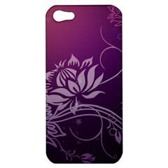 Purple Lotus Apple iPhone 5 Hardshell Case