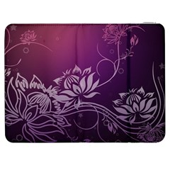 Purple Lotus Samsung Galaxy Tab 7  P1000 Flip Case