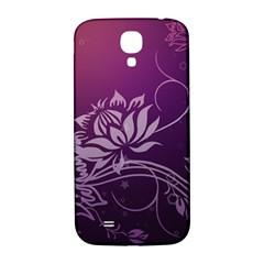 Purple Lotus Samsung Galaxy S4 I9500/I9505  Hardshell Back Case