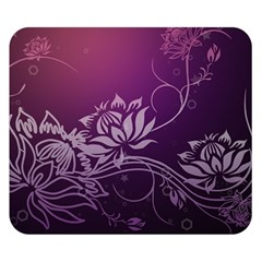Purple Lotus Double Sided Flano Blanket (Small)