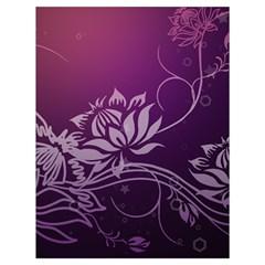 Purple Lotus Drawstring Bag (Large)
