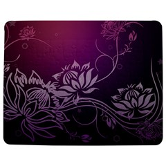 Purple Lotus Jigsaw Puzzle Photo Stand (Rectangular)