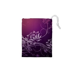 Purple Lotus Drawstring Pouches (XS)