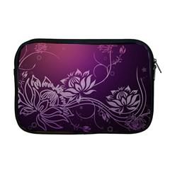 Purple Lotus Apple MacBook Pro 17  Zipper Case