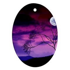 Purple Sky Ornament (Oval)