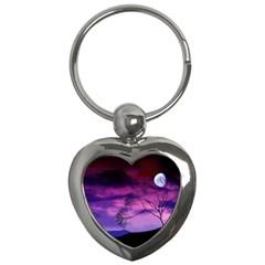 Purple Sky Key Chains (Heart)