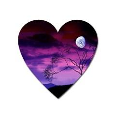 Purple Sky Heart Magnet