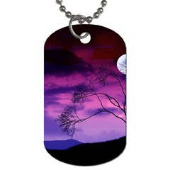 Purple Sky Dog Tag (Two Sides)